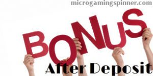Microgaming free spins after contribution